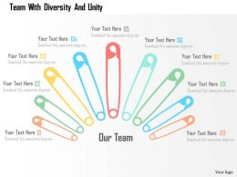 Team With Diversity And Unity Flat Powerpoint Design
