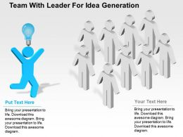 Team With Leader For Idea Generation Flat Powerpoint Design