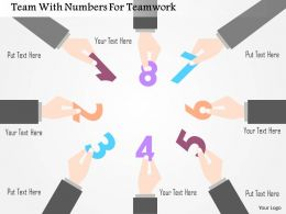 Team With Numbers For Teamwork Flat Powerpoint Design