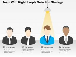 Team With Right People Selection Strategy Flat Powerpoint Design