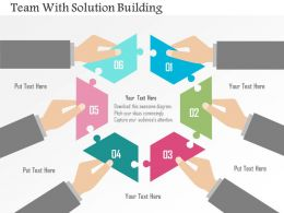 Team With Solution Building Flat Powerpoint Design
