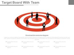 Team With Target Vision For Sales Powerpoint Slides