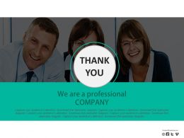 Team With Thank You Text Powerpoint Slides