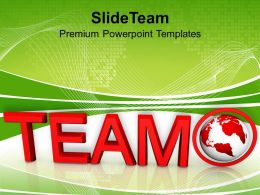 team word with globe powerpoint templates ppt themes and graphics 0213