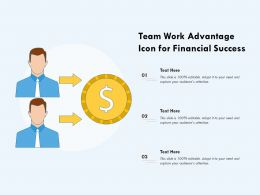 Team Work Advantage Icon For Financial Success