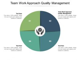 Team Work Approach Quality Management Ppt Powerpoint Presentation Gallery Infographic Template Cpb