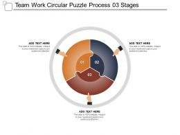 Team Work Circular Puzzle Process 03 Stages