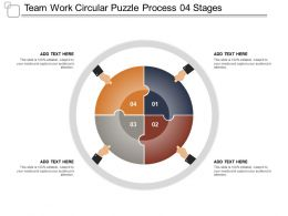 Team Work Circular Puzzle Process 04 Stages