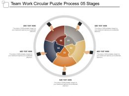 Team Work Circular Puzzle Process 05 Stages
