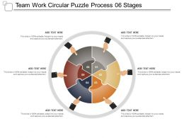 Team Work Circular Puzzle Process 06 Stages