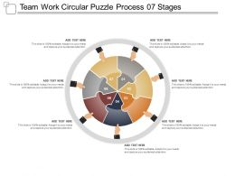 Team Work Circular Puzzle Process 07 Stages