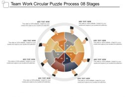 Team Work Circular Puzzle Process 08 Stages