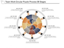 Team Work Circular Puzzle Process 09 Stages