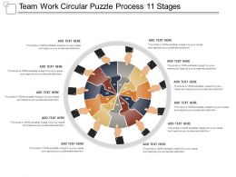 Team Work Circular Puzzle Process 11 Stages