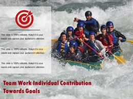 Team Work Individual Contribution Towards Goals