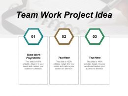 Team Work Project Idea Ppt Powerpoint Presentation Infographic Template Graphic Cpb