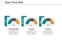 Team Work Skills Ppt Powerpoint Presentation Portfolio Guidelines Cpb