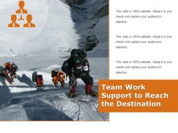 Team Work Support To Reach The Destination