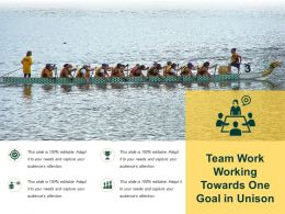 Team Work Working Towards One Goal In Unison