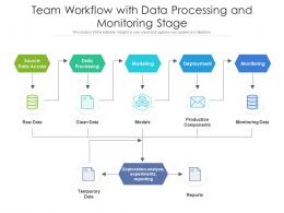 Team Workflow With Data Processing And Monitoring Stage