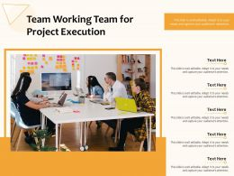 Team Working Team For Project Execution