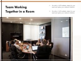 Team Working Together In A Room