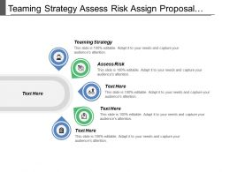 Teaming Strategy Assess Risk Assign Proposal Resources Solution Customer