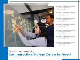Teammates Developing Communications Strategy Canvas For Project