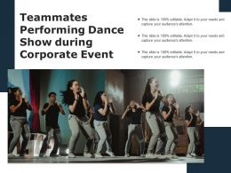 Teammates Performing Dance Show During Corporate Event