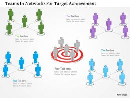 Teams In Networks For Target Achievement Powerpoint Templates