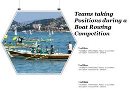 Teams Taking Positions During A Boat Rowing Competition