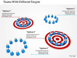 Teams With Different Targets Image Graphics For Powerpoint