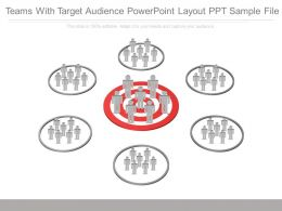 Teams With Target Audience Powerpoint Layout Ppt Sample File