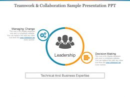 Teamwork And Collaboration Sample Presentation Ppt