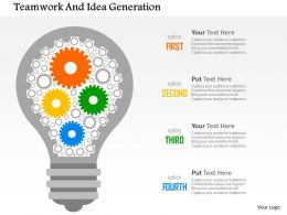 Teamwork And Idea Generation Flat Powerpoint Design