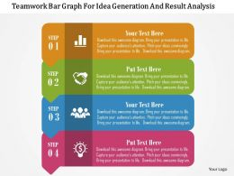 Teamwork Bar Graph For Idea Generation And Result Analysis Flat Powerpoint Design