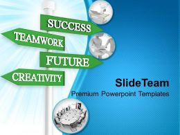 Teamwork Business Signpost Success Powerpoint Templates Ppt Themes And Graphics 0313