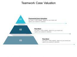 Teamwork Case Valuation Ppt Powerpoint Presentation Show Portrait Cpb