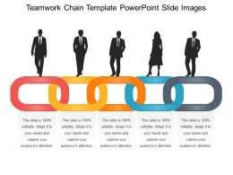 Teamwork Chain Template Powerpoint Slide Images