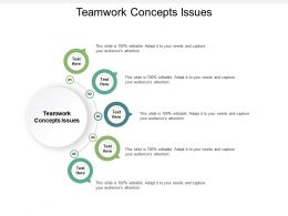 Teamwork Concepts Issues Ppt Powerpoint Presentation Inspiration Microsoft Cpb