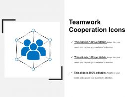 Teamwork Cooperation Icons Ppt Examples Slides
