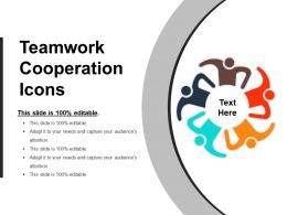 Teamwork Cooperation Icons Ppt Sample Presentation
