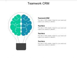 Teamwork Crm Ppt Powerpoint Presentation Infographics Ideas Cpb