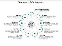 Teamwork Effectiveness Ppt Powerpoint Presentation Summary Sample Cpb