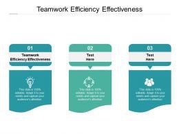 Teamwork Efficiency Effectiveness Ppt Powerpoint Presentation Gallery Grid Cpb