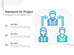 Teamwork For Project Completion In Coordination Icon