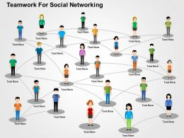 Teamwork For Social Networking Flat Powerpoint Design