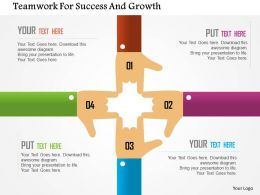 Teamwork For Success And Growth Flat Powerpoint Design