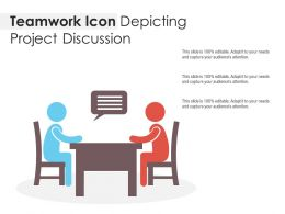 Teamwork Icon Depicting Project Discussion
