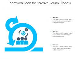 Teamwork Icon For Iterative Scrum Process